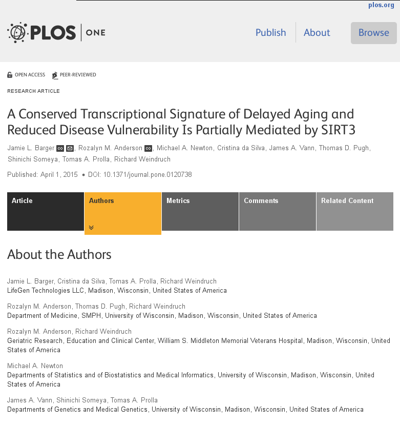 A Conserved Transcriptional Signature of Delayed Aging and Reduced Disease Vulnerability Is Partially Mediated by SIRT3